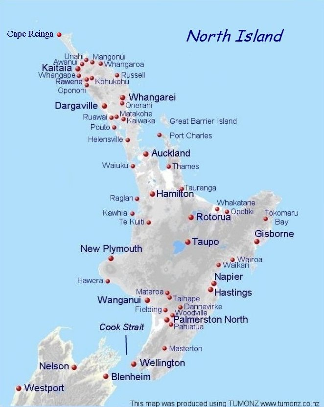 North Island Map New Zealand.Air Mails Of New Zealand North Island
